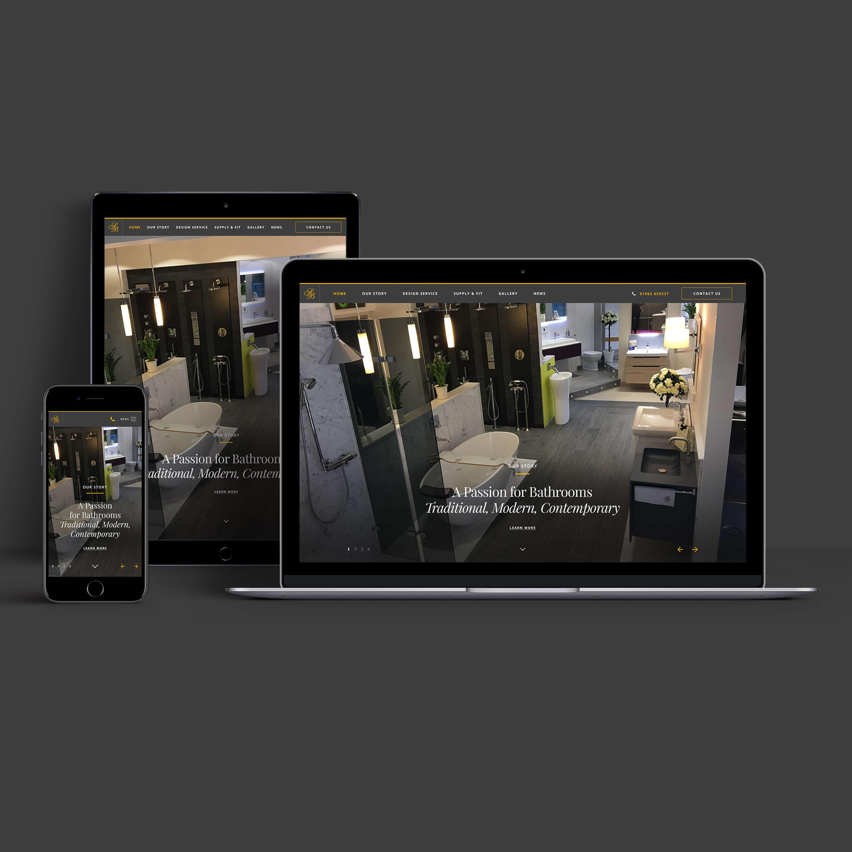 Sovereign Bathrooms Web Design